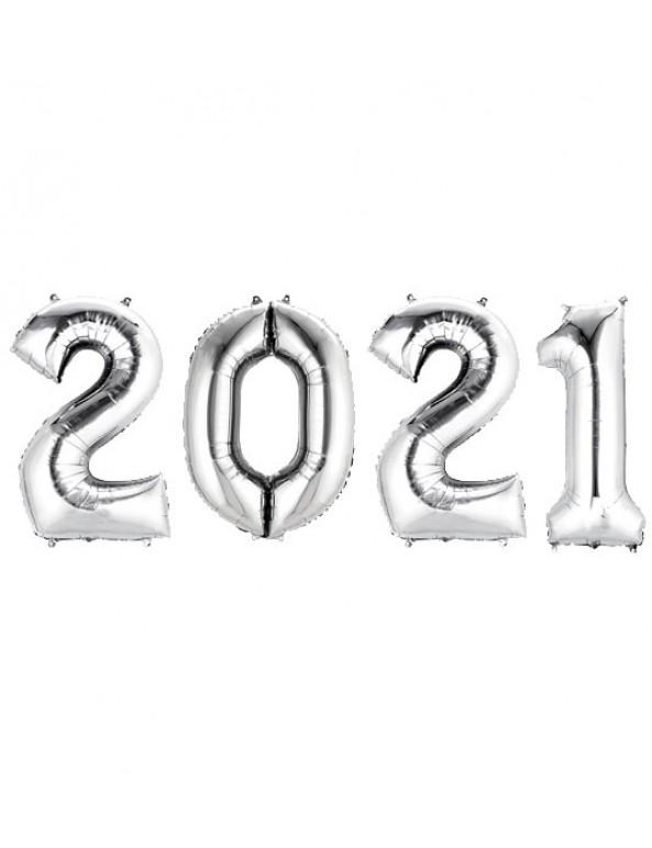 בלוני ענק 2021- כסף