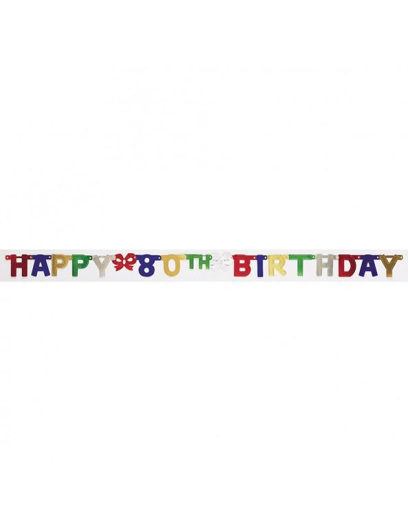 שלט יום הולדת גיל 80