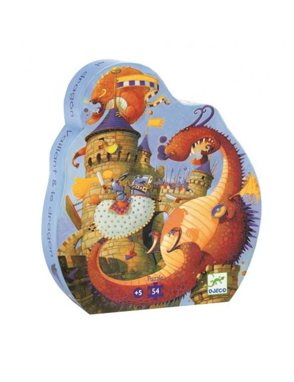 פאזל דרקון וטירה- 54 חלקים
