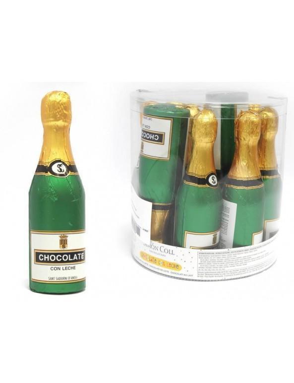 שוקולד, סנטה קלאוס, כריסטמס, בקבוק שמפניה עשוי שוקולד, שמפניה, שוקולד שנה חדשה, סילבסטר, new year, בקבוק שמפניה בינוני עשוי שוקולד