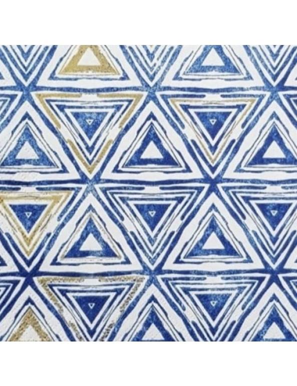 מפיות משולשים כחולים