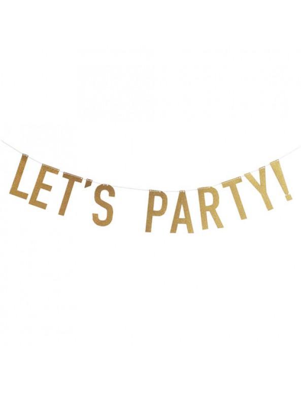 באנר let's party!