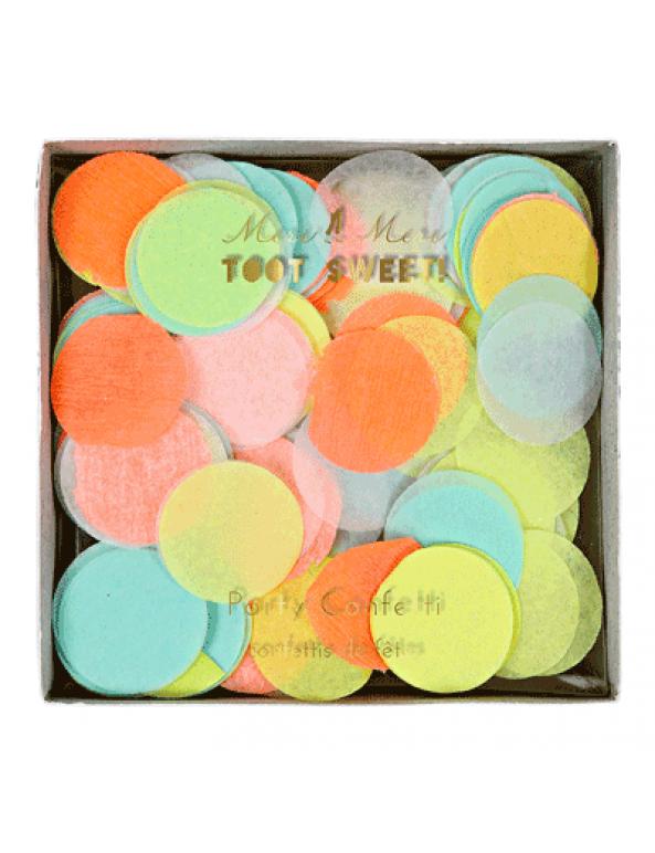 קונפטי עיגולי נייר זרחניים - Meri Meri