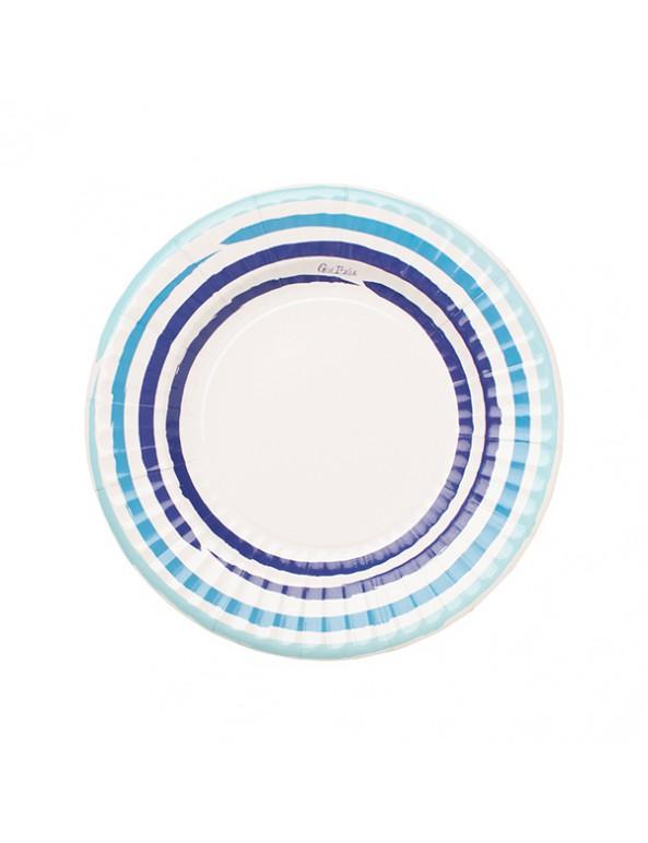 צלחות נייר קטנות בסגנון יווני