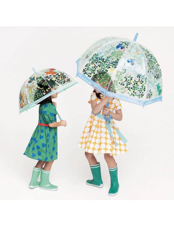 מטריה- פרחים וציפורים