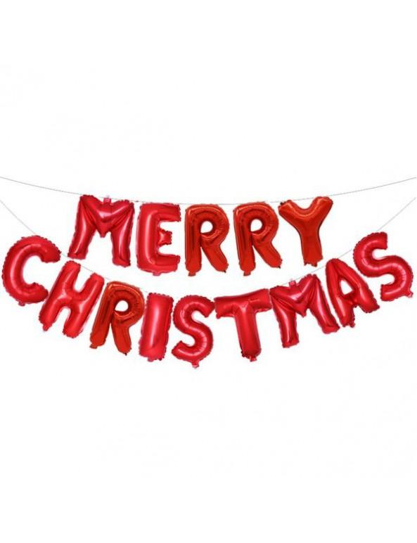 סט בלוני אותיות merry christmas-