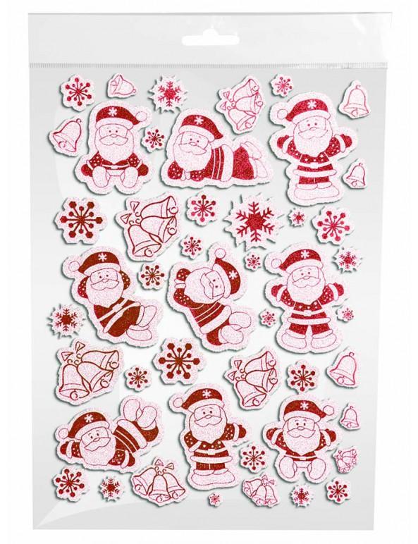 דף מדבקות סנטה קלאוס