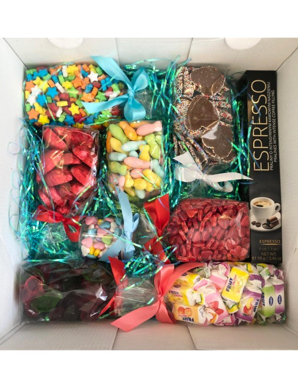 מארז ממתקים יוקרתי ליום הולדת
