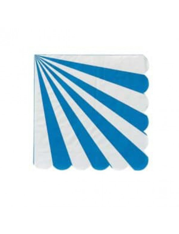 מפיות פסים כחול לבן