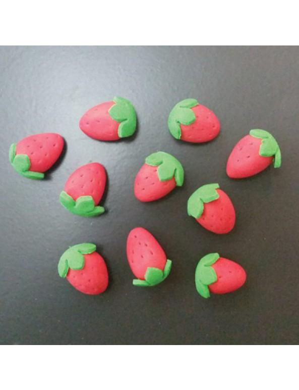 קישוט בצק סוכר תותים