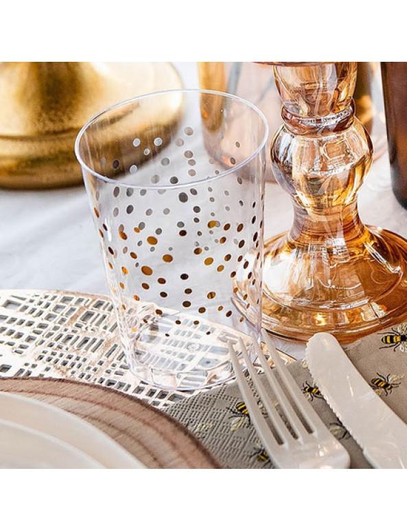 כוסות פלסטיק, כוס פלסטיק, כוס חד פעמי, כוס חד פעמית, כוסות חד פעמיים, כוס מעוטרת, כוס פלסטיק קשיח, כוס חד פעמית מיוחדת, ראש השנה, ערב חג, ארוחת ששי, עיצוב שולחן, סידור שולחן