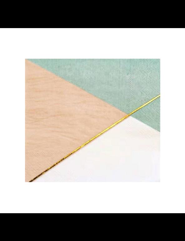 מפיות קוקטייל- צבעי פסטל