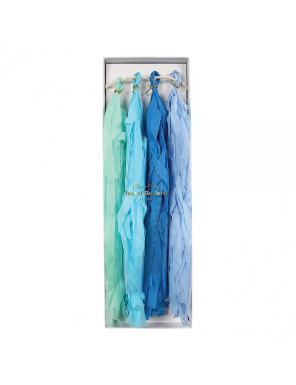 שרשרת טאסלים כחול תכלת מנטה - Meri Meri