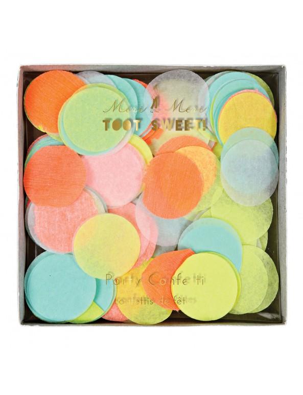 קונפטי עיגולי נייר זרחניים - Meri Meri, Meri Mer, קונפטי, קישוט למסיבה, קישוטים למסיבה, סידור שולחן, מסיבת יום הולדת, נאון,