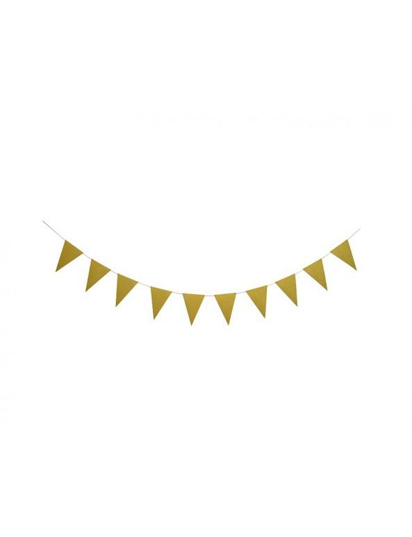 שרשרת דגלונים זהב, שרשרת, דגל, דגלונים, זהב, קישוט, קישוטים, קישוטים למסיבה, קישוטים ליום הולדת