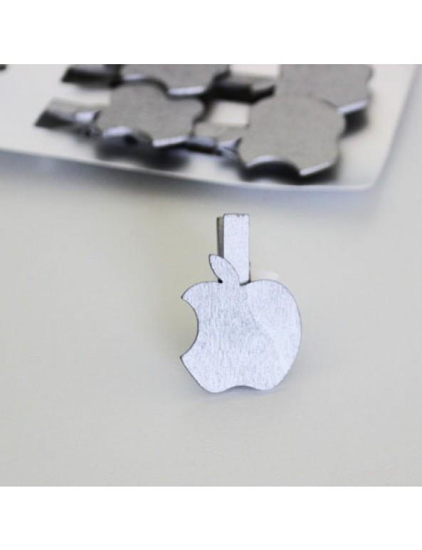 6 אטבי תפוח כסף