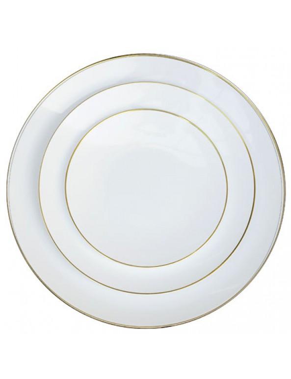 צלחות גדולות לבן עם פס זהב, ראש השנה, ערב חג, סידור שולחן, עיצוב שולחן, שולחן חג,