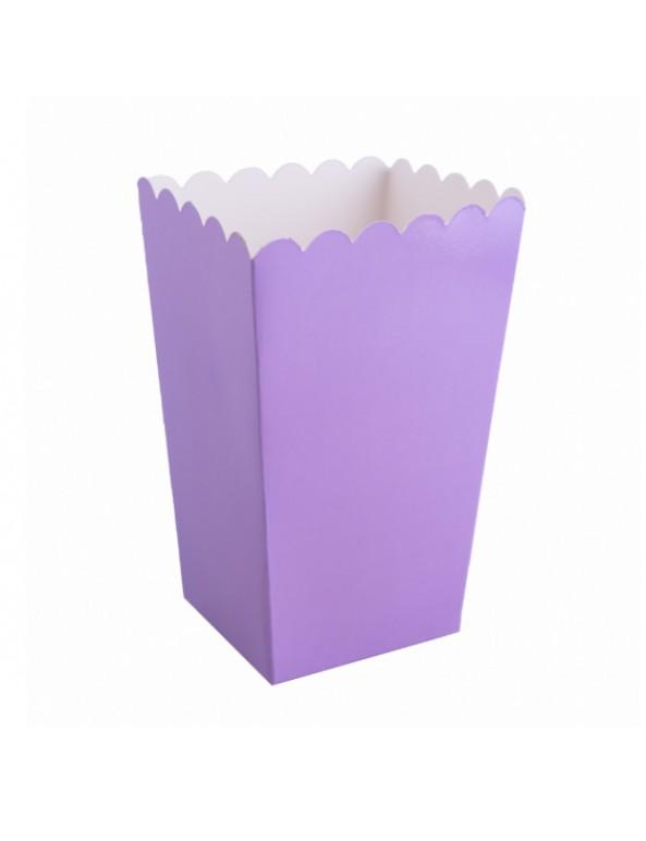 קופסת פופקורן סגול, פופקורן, קופסה, קופסא, קופסה פתוחה, יום הולדת, עיצוב שולחן
