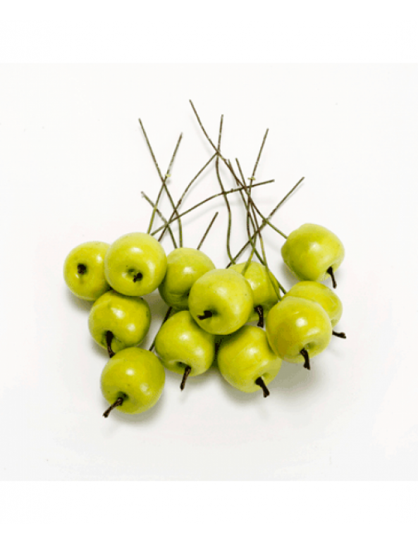 תפוחים ירוקים על מקל