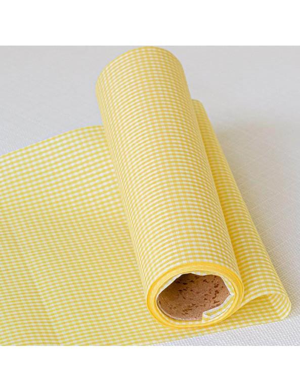 ראנר משבצות קטנות צהוב