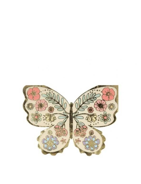מפיות בצורת פרפר פרחוני - Meri Meri