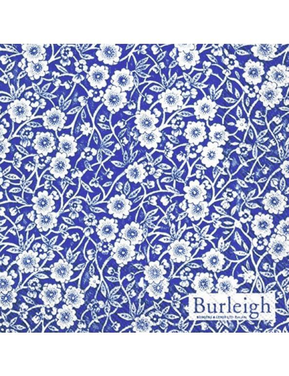 מפיות נייר פרחים כחול לבן