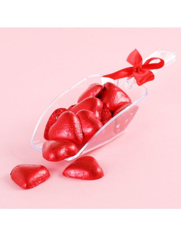 מארז כף שוקולד לב אדום