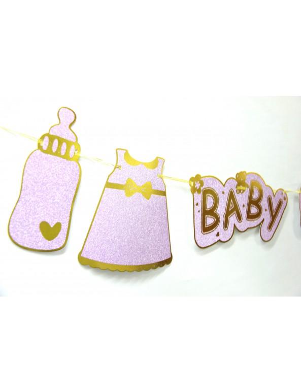 שרשרת להולדת בת, בייבי שאוור, baby shower, לידת בת, תינוקת, מסיבת בריתה, בריתה, קישוטים לבריתה, קשיוט לבריתה