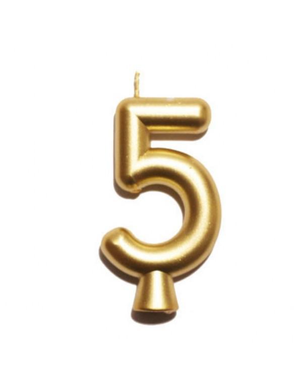 נר הספרה חמש - זהב