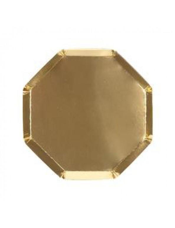 צלחות נייר קטנות זהב - Meri Meri