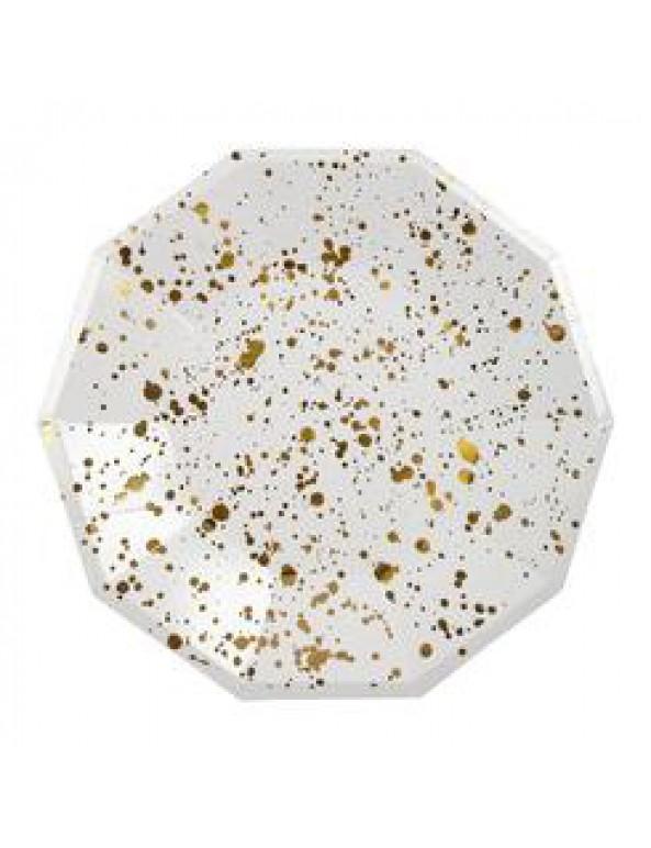 צלחות זהב גדולות הטזות זהב  - Meri Meri