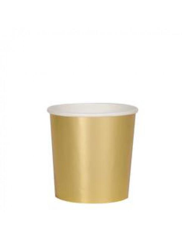 כוסות זהב נמוכות - Meri Meri, מרי מרי, MERI MERI, כוס, כוסות, כוס נייר,כוסות נייר, כוס זהב, כוסות זהב, עיטור זהב, זהב
