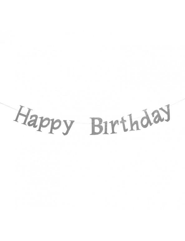 שרשרת יום הולדת שמח, יום הולדת, קישוטים ליום הולדת, קישוטים למסיבה, קישוט, אווירה, יום הולדת Happy Birthday