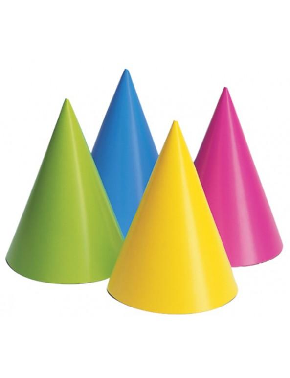 כובע ליצן, אביזרים לפורים, פורים, חג פורים, קישוט לפורים, מארז כובעים בגווני ורוד, יום הולדת, מסיבת יום הולדת, אביזרים למסיבה, נאון