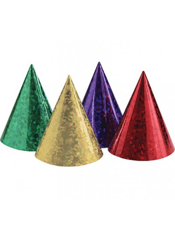 כובע ליצן, אביזרים לפורים, פורים, חג פורים, קישוט לפורים, מארז כובעים בגווני ורוד, יום הולדת, מסיבת יום הולדת, אביזרים למסיבה, נאון, מארז כובעים בצבעי נאון הולוגרפי