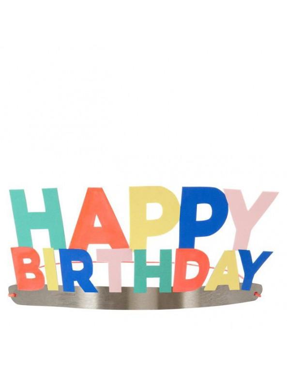 מארז 8 זרי happy birthday מנייר - Meri Meri