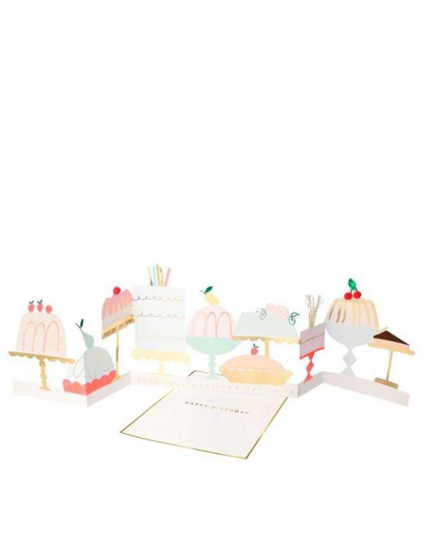 כרטיס ברכה עוגות - Meri Meri