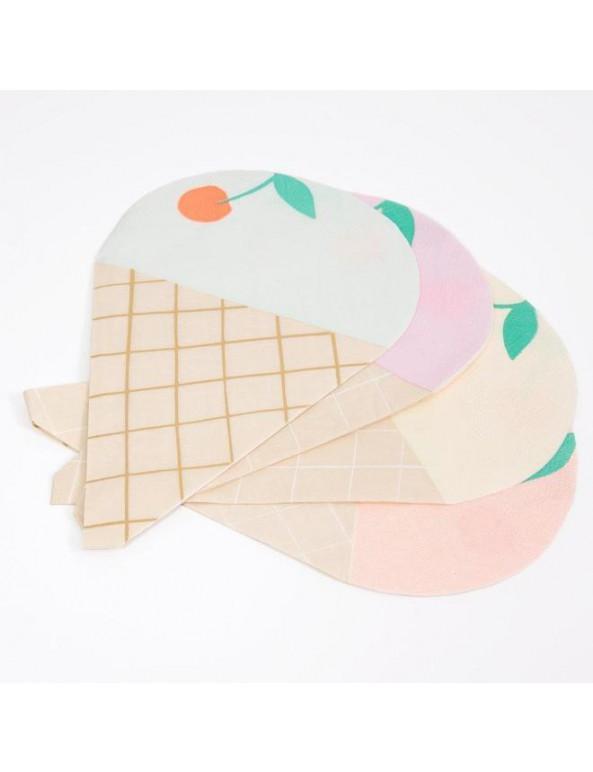 מפיות בצורת גלידה  - Meri Meri