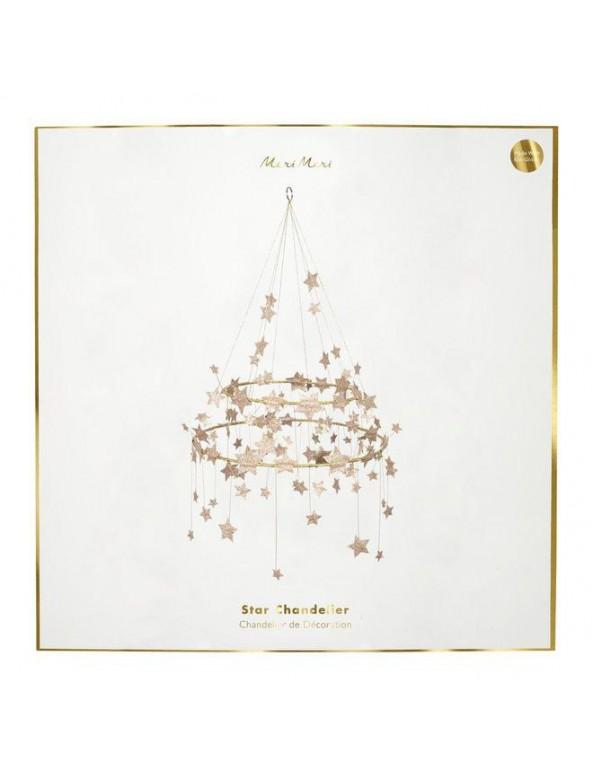 שנדליר כוכבי זהב נוצצים - Meri Meri