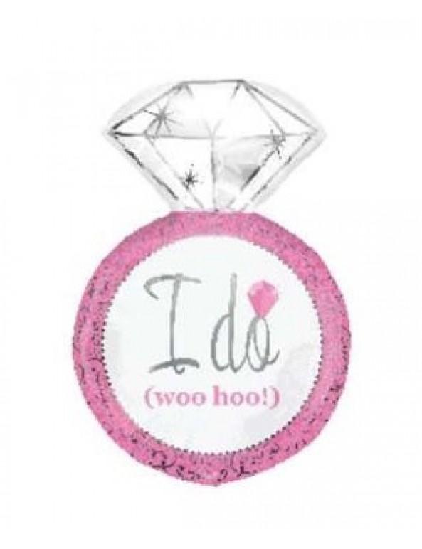 בלון טבעת יהלום I do