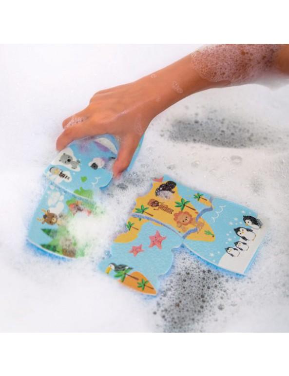 צעצועי אמבט – פאזל מפת העולם 28 חלקים