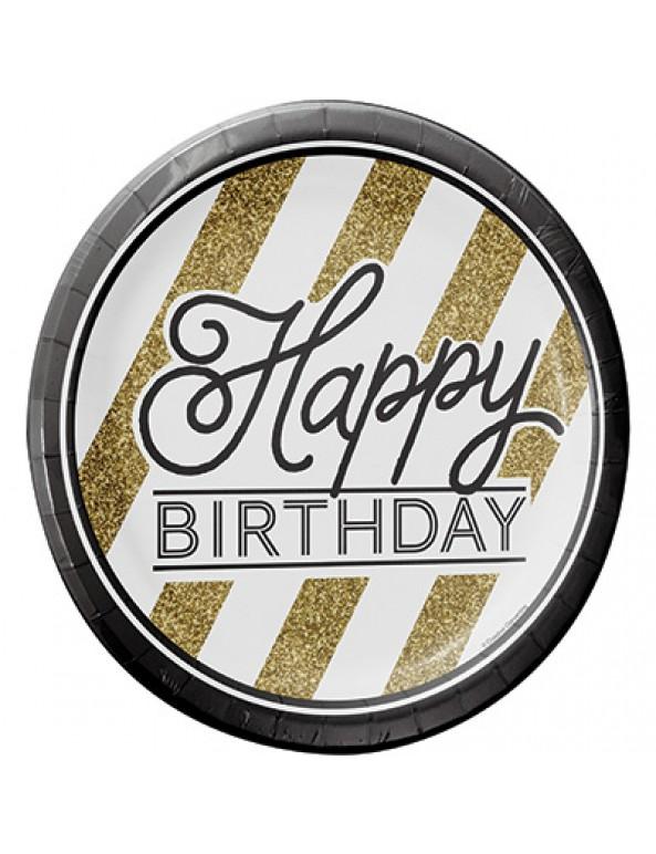 כוסות נייר שחור זהב, כוסות נייר, כוס נייר, בוס, כוסות, יום הולדת, מסיבת יום הולדת, עיצוב אירועים, סידור שולחן, שחור, זהב, שחור וזהב, שחור זהב, יום הולדת גיל, יום הולדת לפי גיל, צלחות, מפיות, happy birthday