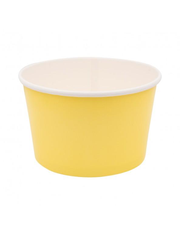 קופסה לפופקורן, קופסאות לפופקורן, משלוח מנות, פורים, דלי בינוני מנייר צהוב מימוזה