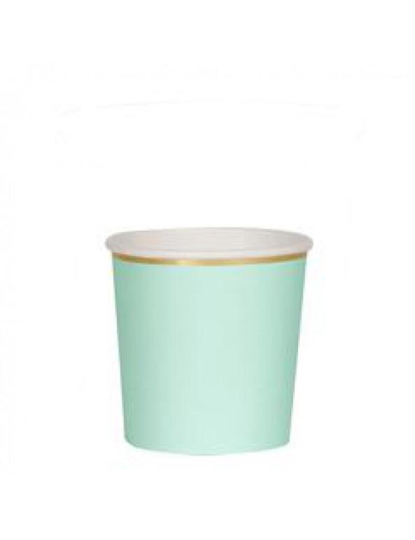 כוסות מנטה נמוכות עם עיטור זהב - Meri Meri