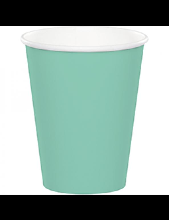 כוסות נייר מנטה, כוסות נייר גדולות מנטה, צלחות נייר, כוסות גדולות, מנטה, כוסות מנטה, יום הולדת, עיצוב שולחן, סידור שולחן