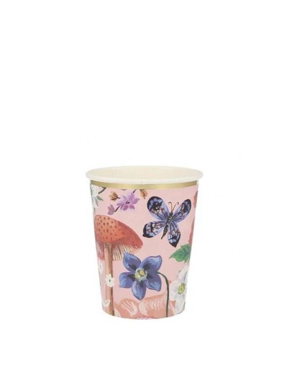 כוסות נייר פרחוניות  - Meri Meri