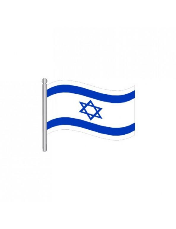 עשיריית דגלי ישראל מניילוןעל מקל