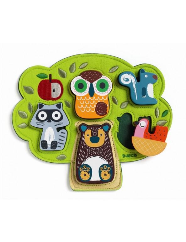 פאזל, פאזל עץ, לבד, פאזל עץ בשילוב לבד - על העץ, מתנה, מתנות, דמי חנוכה, צעצוע, צעצועים