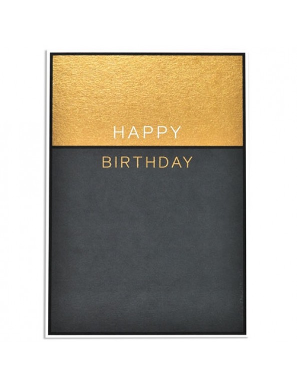 כרטיס ברכה יום הולדת - שחור זהב