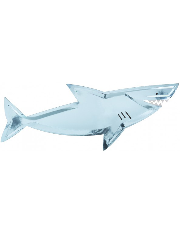 צלחות כריש - Meri Meri, Meri Meri, צלחת, צלחות, צלחת כריש, צלחות כריש, מתחת למים, כריש, כרישים, בת בים,